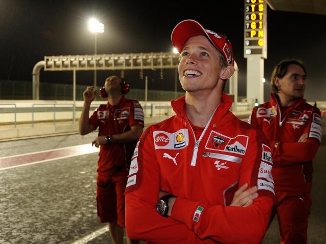 2009 MotoGP Qatar Test - Casey Stoner - Rain