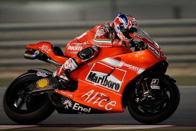 2009 MotoGP Qatar Test - Casey Stoner - Ducati Power