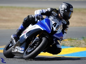 2009 Infineon AMA - SuperSport - Chris Clark Turn 9A