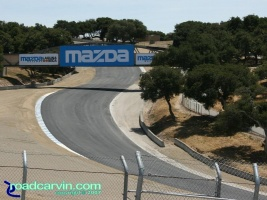 Laguna Seca - A Look Back - Corkscrew Bottom Now: A current look at the Corkscrew at Mazda Laguna Seca Raceway from the bottom.
