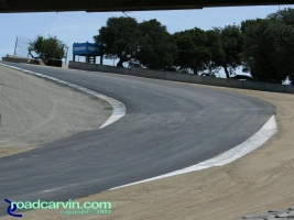 Laguna Seca - A Look Back - Corkscrew Top Now: Current view looking towards the top of the famous Corkscrew at Mazda Laguna Seca Raceway.