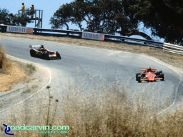 Laguna Seca - A Look Back - Corkscrew Top Then: The Corkscrew at Laguna Seca Raceway the way it was before many safety changes.