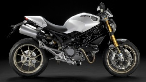 2009 Ducati Monster 1100S Pearl White Right Side