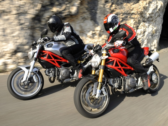 2009 Ducati Monster - Silver 1100 & Red 1100S