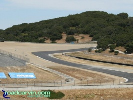 Laguna Seca - A Look Back - Exit Turn 9 Now: The exit of current turn 9 and entrance to turn 10 at Mazda Laguna Seca Raceway.
