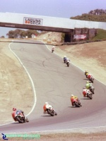 Laguna Seca - A Look Back - Exit Turn 3 Then: A view of the original Laguna Seca turn 3 exit.