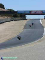 Laguna Seca - A Look Back - Exit Turn 3 Now: The current turn 5 exit at Mazda Laguna Seca Raceway.