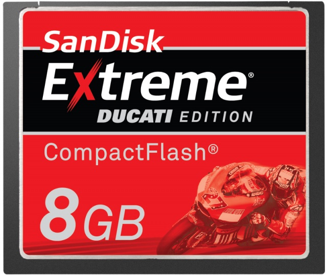 SanDisk Extreme - Ducati Edition 8GB Compact Flash Card