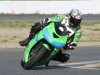 Faster rider running through turn 9a @ Buell Inside Pass Track Day Infineon
