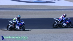 2007 Red Bull U.S. Grand Prix - AMA Superbike - Fight for Position (II)