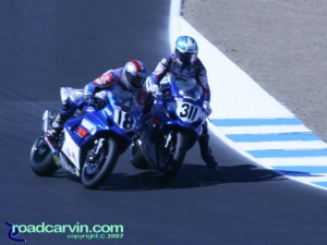 2007 Red Bull U.S. Grand Prix - AMA Superbike - Fight for Position (I)