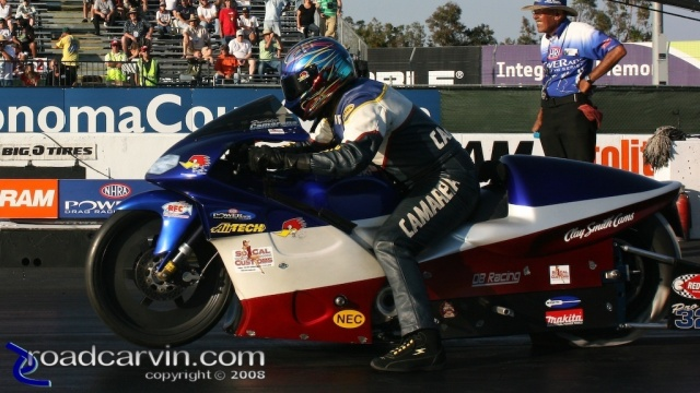 2008 Infineon NHRA - Fred Camarena - Launch