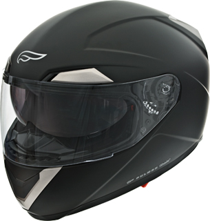 Fulmer AF-6B full-face helmet in flat black: Photo courtesy of Fulmer Helmets.