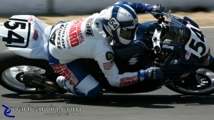 2009 Infineon AMA - American Superbike - Geoff May Turn 4