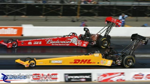 2008 Infineon NHRA - Dave Grubnic vs. Brandon Bernstein
