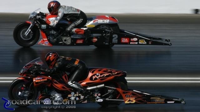 2008 Infineon NHRA - Matt Guidera vs. Andrew Hines