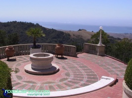 Hearst Castle - View to the Coast: Hearst Castle is at the top of the mountain and the view of the coast is dramatic.