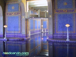 Hearst Castle - Indoor Pool: The indoor pool at Hearst Castle is unbelievable.  I wonder how much gold it took to make the tiles.