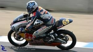 Hayden Gillim: Hayden Gillim looking good in the Red Bull Rookies race.