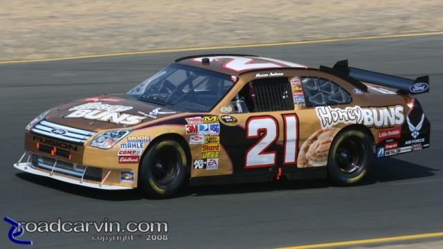 2008 NASCAR - Infineon Raceway - Marcus Ambrose Turn 3