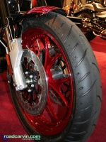 Victory Hammer S Front: The red wheels look great on the Victory Hammer S.