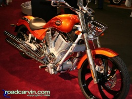 Victory Vegas: The Victory Vegas looked great in orange with the black wheels.