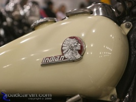 Indian Tank Logo: This vintage Indian motorcycle logo was an eye-catcher.