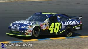 2008 NASCAR - Infineon Raceway - Jimmie Johnson - Wheelie