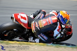 2009 Infineon AMA - Daytona SportBike - Jake Zemke Turn 4