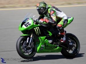 2009 Infineon AMA - Daytona SportBike - Jamie Hacking - Turn 8 Wheelie