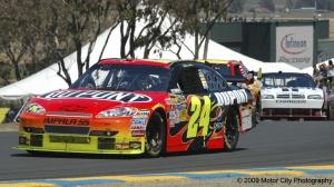 2009 NASCAR - Infineon Raceway - Jeff Gordon Exit T2