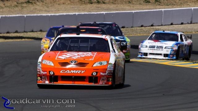 2009 NASCAR - Infineon Raceway - Joey Logano Turn 2