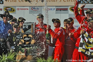 2009 NASCAR - Infineon Raceway - Kasey Kahne - Victory Champagne