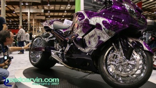 Monster Kawasaki ZX-14 Custom - Side (II): Wild custom drag bike