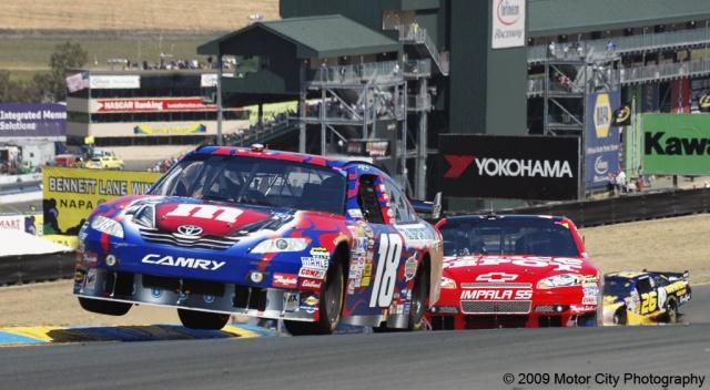 2009 NASCAR - Infineon Raceway - Kyle Busch - Turn 2