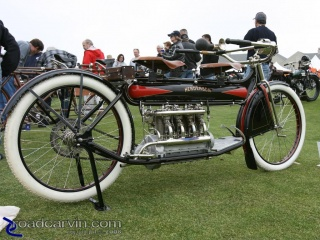1912 Henderson Four: I had never seen a two seater like this 1912 Henderson model Four.