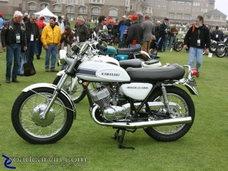 1969 Kawasaki Mach III 500: I wonder how many of these little rockets are still around? This one is cherry.