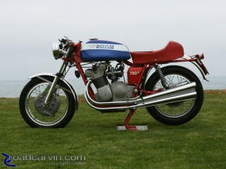MV Agusta 750S: One of the many MV Agusta motorcycles featured.