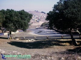Laguna Seca - A Look Back - Looking Down the Corkscrew Then: The Corkscrew was unforgiving if you left the track.