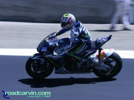 2007 Red Bull U.S. Grand Prix - Marco Melandri: Marco Melandri made the podium with a solid 3rd place finish