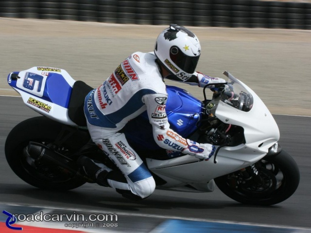 2008 AMA Test - Mat Mladin Turn 3