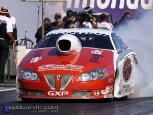2009 Fram Autolite NHRA Nationals - Mike Edwards - Burnout