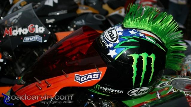 2008 MotoGP - Cannery Row - Mohawk Helmet