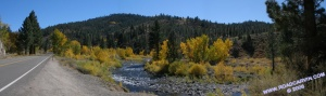Carson River outside Markleeville on Hwy 4 - Panorama