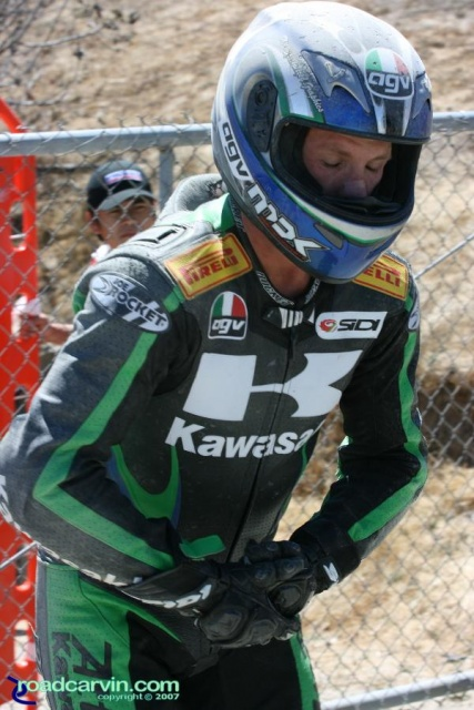 2007 Red Bull U.S. Grand Prix - Steve Rapp - Hurting After Crash