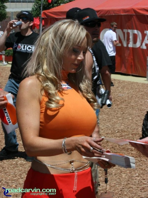 2007 Red Bull U.S. Grand Prix - Repsol Girl