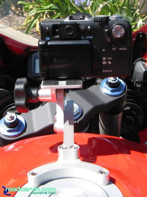 SportBikeCam Front Camera Mount - Canon G1 Rear