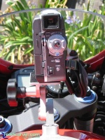 SportBikeCam Front Mount - JVC GR-DVM76U Rear: SportBikeCam mouned with a JVC GR--76 video camera.