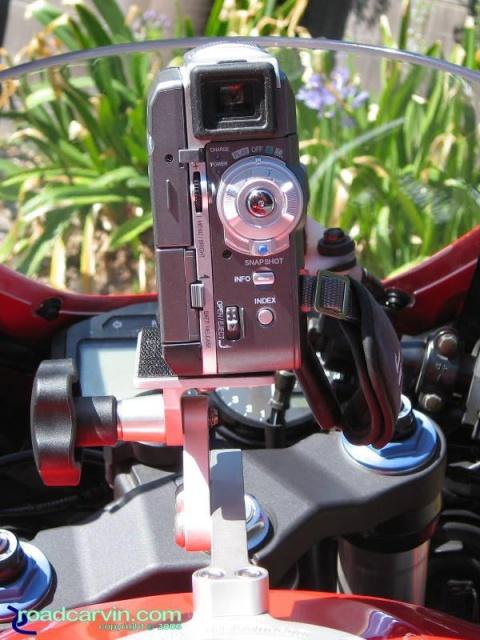 SportBikeCam Front Mount - JVC GR-DVM76U Rear