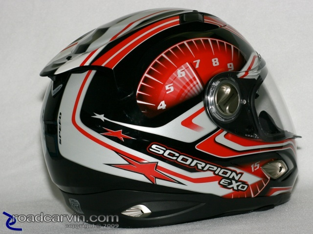 scorpion helmets exo 1000 rpm right rear roadcarvin. Black Bedroom Furniture Sets. Home Design Ideas